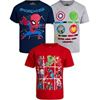 Marvel Boys 3 Pack T-Shirts : Spider-Man and Avengers Superheroes (Toddler, Little Boys & Big Boys)