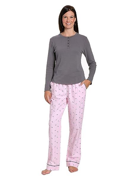 Noble Mount gift-packaged para mujer Premium algodón franela Ropa Set - Gris -