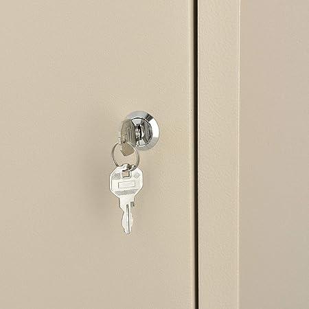 Beige 18W x 10D x 30H Large Narcotics Cabinet Double Door//Double Lock