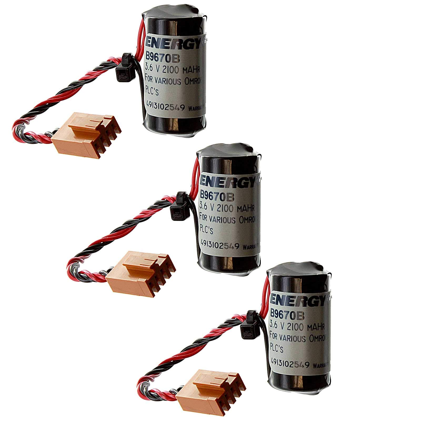 3x PLC 3V 1800mAh Eternacell Energy+ Replacement Battery for B9670AB FAST SHIP