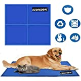 Large Dog Cooling Mat (Blue) | Keeps your larger pets cool & calm during summer | Non - toxic cooling pads for dogs and…