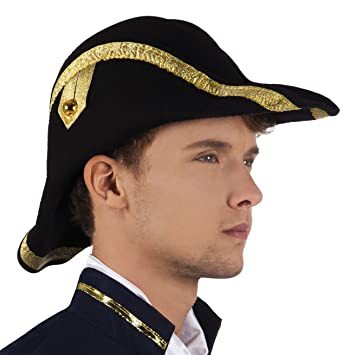 d9a4ce3e38a Admiral Bicorne Fancy Dress Hat  Amazon.co.uk  Toys   Games