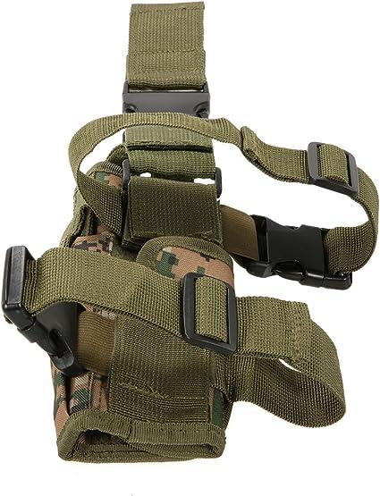 /équipement de paintball Airsoft Chasse Pistolet Holster Tactique Tornade Universel Tactique Cuisse Holster Multicam