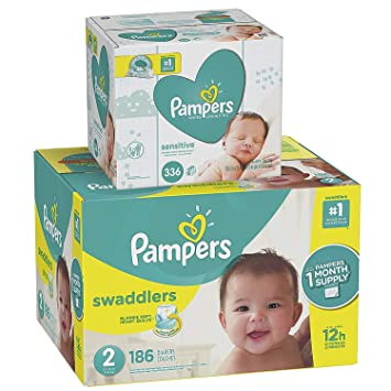 Pampers Swaddlers Disposable Baby Diapers Size 2 c7bffd80f