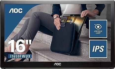 AOC Monitor I1659FWUX - Pantalla para PC de 15.6 Portátil Full HD (resolución 1920 X 1080, IPS, Pivotable, VESA, Contrastes 700:1): Aoc: Amazon.es: Informática