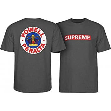 Powell-Peralta – Tabla de Skate (Camiseta Supremo Charcoal Heather Tamaño L