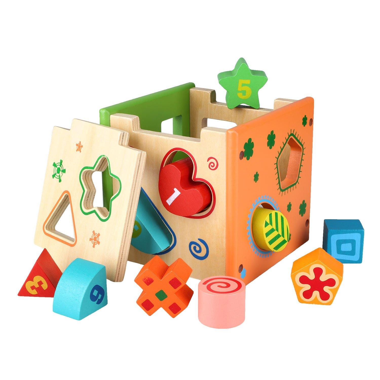 Wooden Toys For Pre School : Peradix wooden shape sorter preschool educational toy