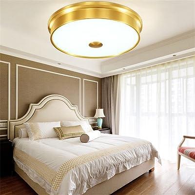 ANGEELEE Plafonnier toutes Cu étude ronde lumière salon de style américain moderne minimaliste chambre salon light restaurant cuisines compactes