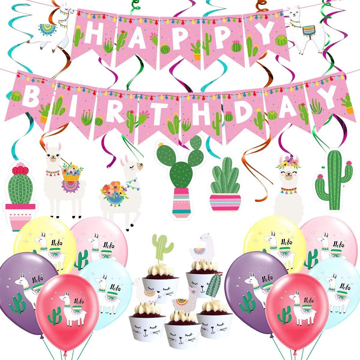 Cactus Party Decor Cute Llama Cut Files Llama Cake Topper svg Birthday Cake Topper Set Svg Cupcake Toppers Svg Llama Cactus Svg