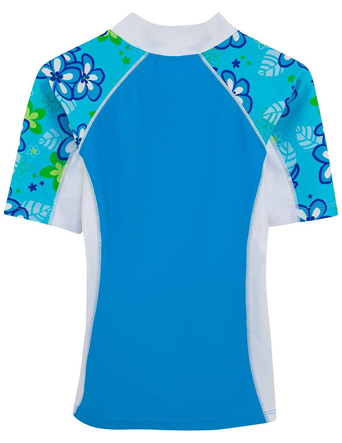 Sun Protection Swim Shirt UPF 50 Tuga Girls Short Sleeve Rash Guard Children 1-14 Years