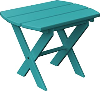 product image for Poly Folding End Table - Aruba Blue