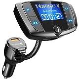 """VICTSING Transmetteur FM Bluetooth Adaptateur Radio Bluetooth sans Fil Voiture avec Grand Ecran 1,44"""", Appels Mains Libres, Charge Rapide QC3.0 et Ports USB Doubles Intelligents"""
