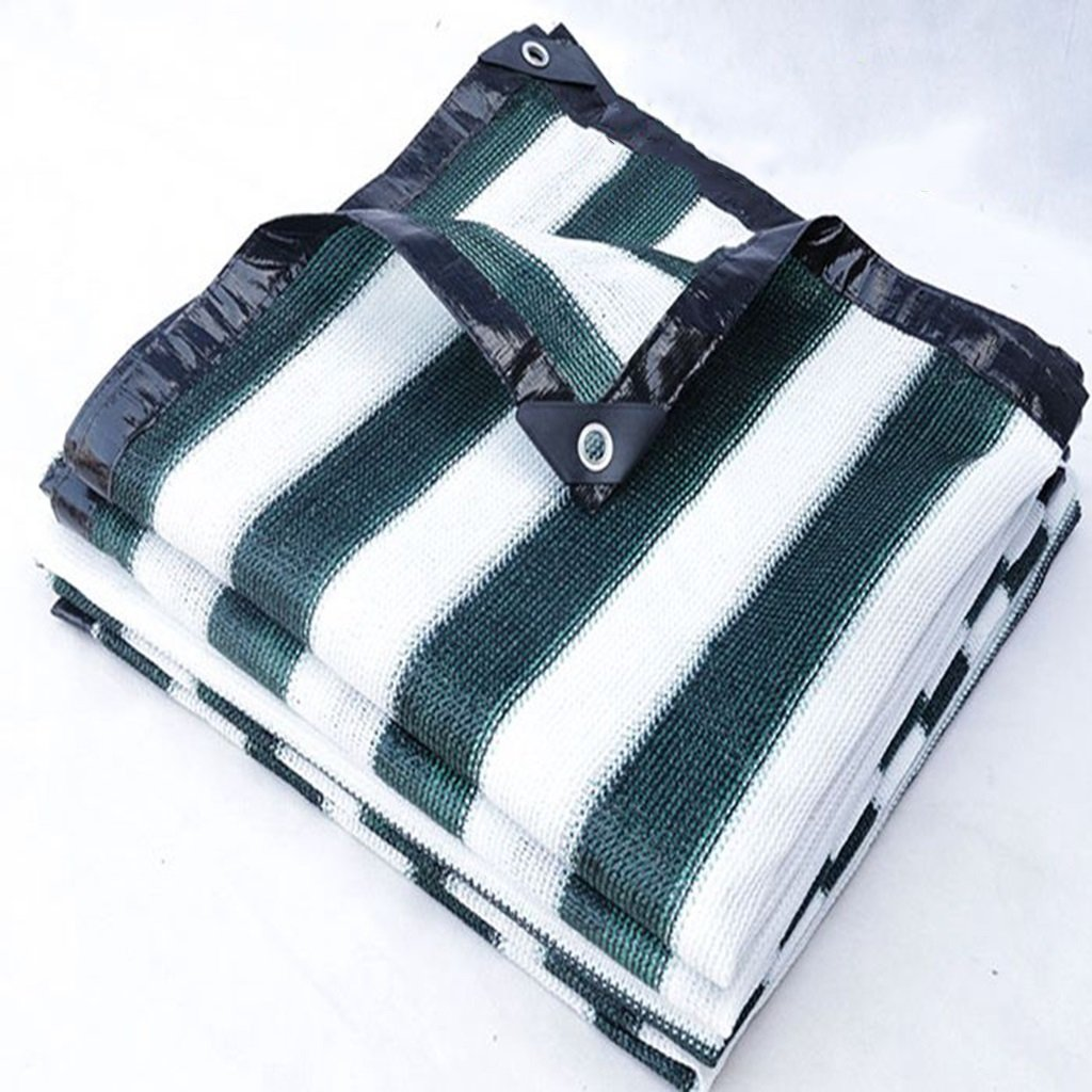 植物のための温室シェード布、暗号化厚いシェードの防水ネット、バルコニーに適し、トラック、植物カバー、納屋または犬舎、様々なサイズのガーデンターフシート (色 : Green and white stripes, サイズ さいず : 3x6m) 3x6m Green and white stripes B07HN27ZT7