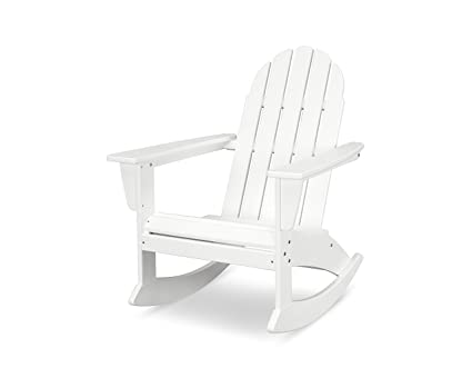 Marvelous Polywood Vineyard Adirondack Rocking Chair White Bralicious Painted Fabric Chair Ideas Braliciousco