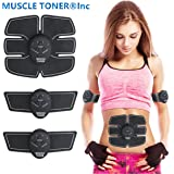 ABS STIMULATOR & MUSCLE TONER - Portable Muscle Trainer with Rhythm & Soft impulse - 6 Modes & 10 levels with Simple Operation - Ultimate abs stimulator for Men Women