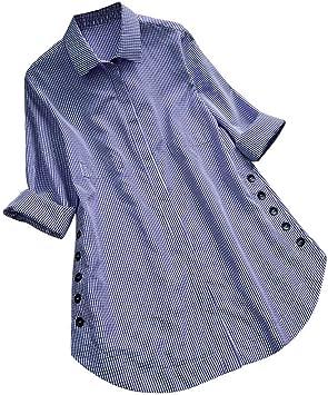 RBDSE Camisa Plus Size 5XL Tops para Mujer y Blusas de Manga Larga Streetwear Button V Cuello Camisas largas Tunic Ladies Top Womens Clothing: Amazon.es: Deportes y aire libre