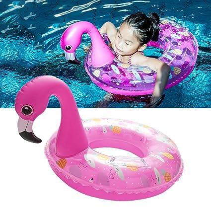 HANMUN Flamingo Baby Float Swim Ring Kids Pink Swimming ...