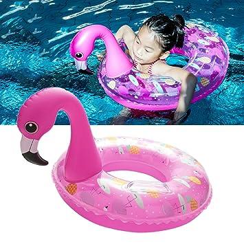 HANMUN Flamingo Baby Float Swim Ring Kids Pink Swimming Piscina Inflable Flotador Beach Toys para Niños Mayores de 2 Años +: Amazon.es: Juguetes y juegos