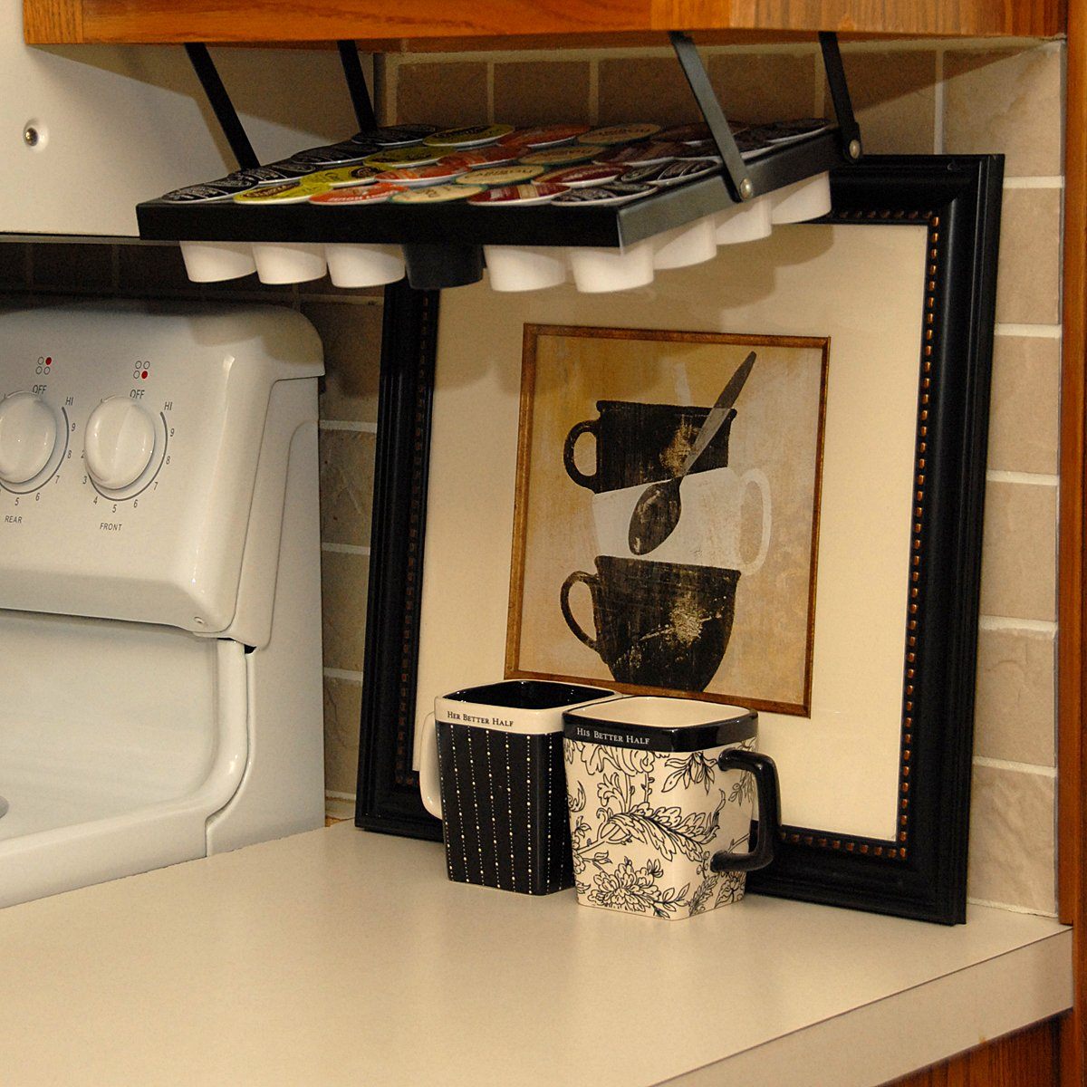 Amazon.com: Coffee Keepers Under Cabinet K-Cup Holder ...