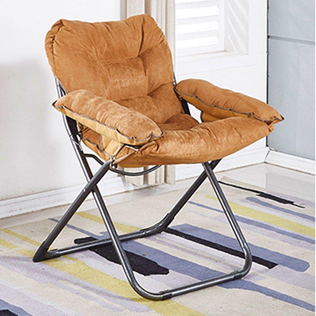 ベッドルームリビングルームのための怠惰なソファ寮バルコニー折り畳み式長椅子調節可能キャンプ用釣り折りたたみ式クッションリラックスレイジーチェア、100kg (色 : ゴールド) B07DLWH6F6 ゴールド ゴールド