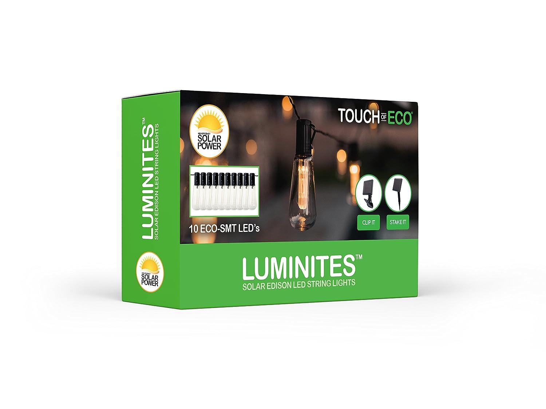 Solar Powered Tube Edison Lights Touch Of ECO Luminites TOE190