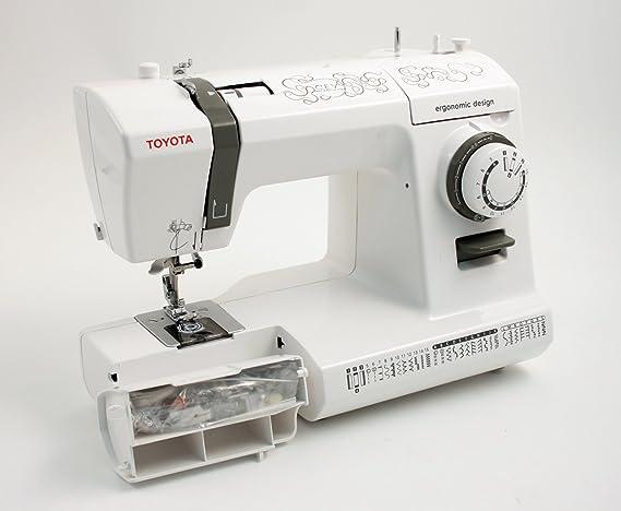 Toyota CEV máquina de coser, color blanco: Amazon.es: Hogar