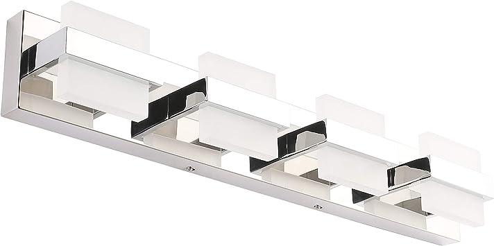 Solfart Dimmable Modern 4 Lights Led Vanity For Bathroom Wall Light Fixture Over Mirror Amazon Com