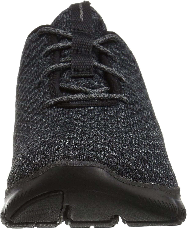 Skechers Flex Appeal 2.0-Bold Move, Formateurs Femme Noir Black Charcoal