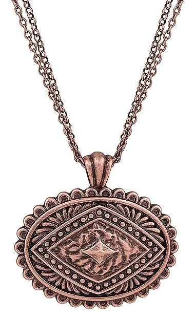 Amazon Rock 47R Copper Concho Necklace Jewelry