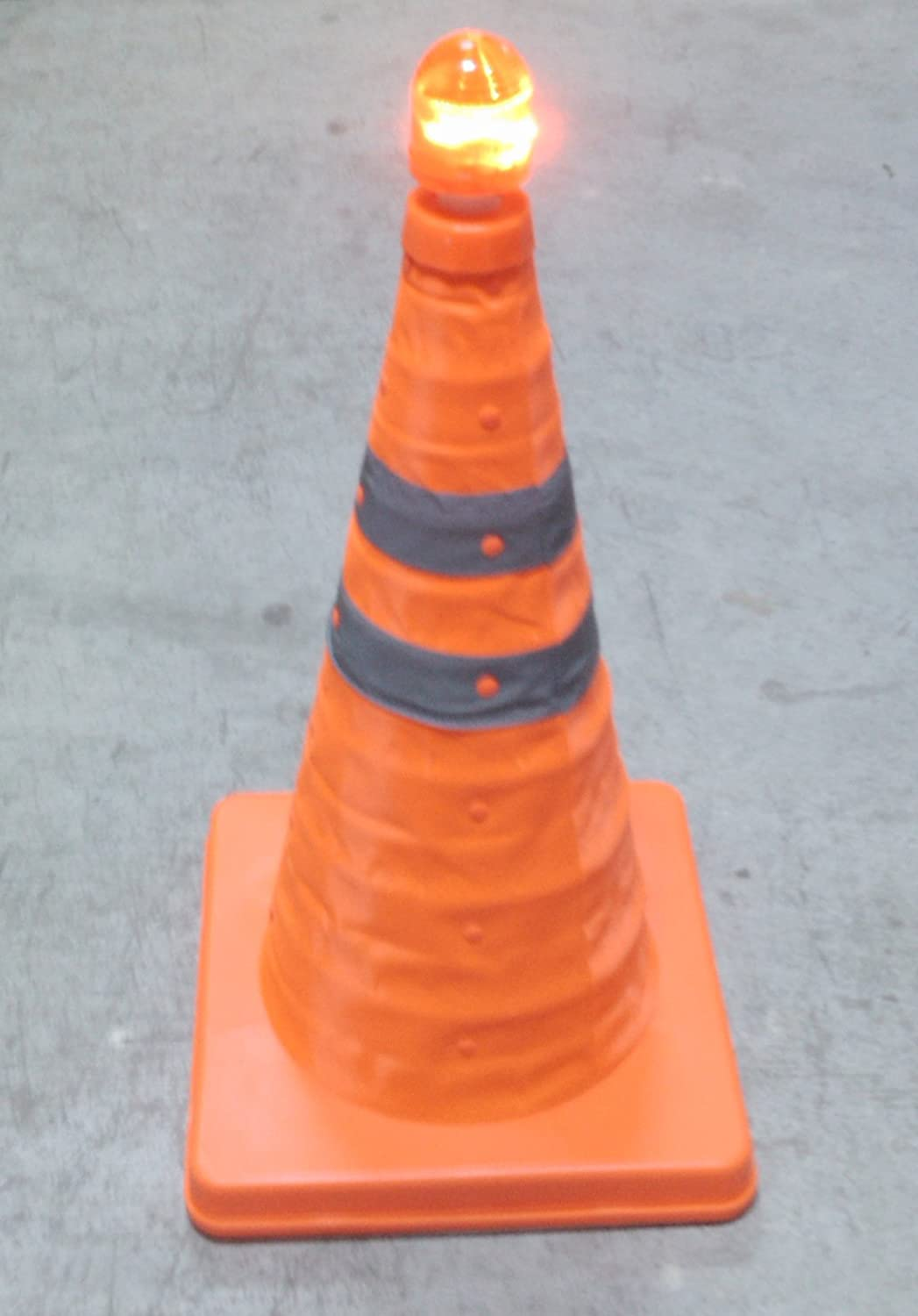 Retractable Safety Cone 45 cm with flashing lamp ESR
