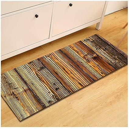 amazon com wshine 15 7 47 2 retro wood floor runner rug kitchen rh amazon com should wood floor match kitchen cabinets hardwood floor kitchen mat