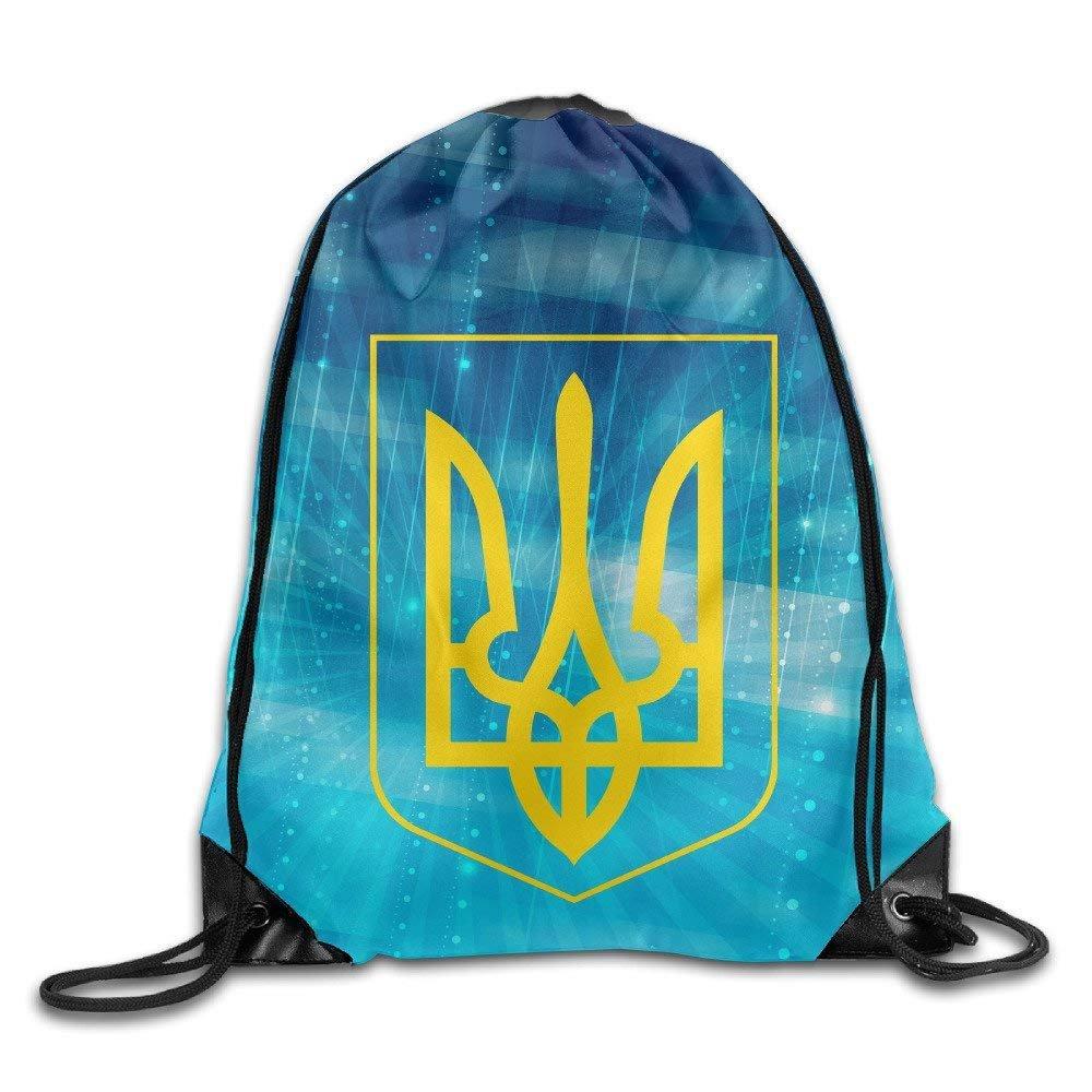 Gym Drawstring Bag Ukraine Tryzub Ukrainian Trident Backpack Bag Feesoz