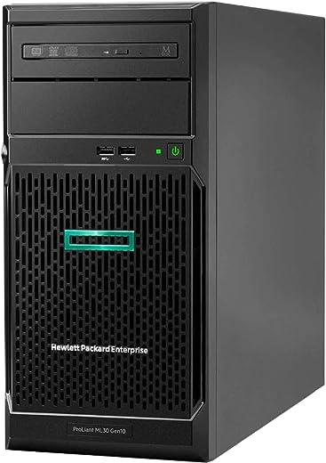 HP ProLiant ML30 Gen10 Tower Server, Intel Xeon E-2124 Quad-Core 3.3GHz 8MB, 32GB DDR4 RAM, 8TB Storage, RAID, iLO 5, Windows 2016