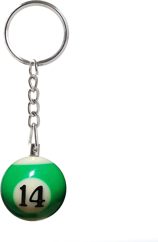 Pool Ball Keyring Keychain Yellow Number 1