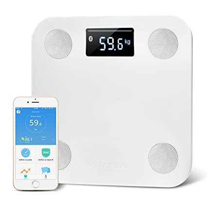 Báscula Smart Bluetooth inalámbrico YUNMAI Báscula Smart Weight Bluetooth APP Gratuita IOS Android 10 precisión misurabilancia