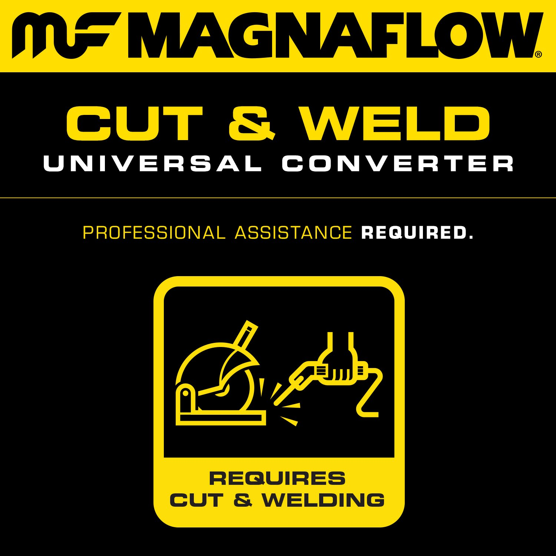 MagnaFlow 546084 Universal Catalytic Converter CARB Compliant MagnaFlow Exhaust Products