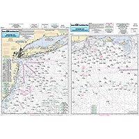 Offshore MA, RI, CT, NY, NJ - Laminated Nautical Navigation & Fishing Chart by Captain Segull's Nautical Sportfishing…