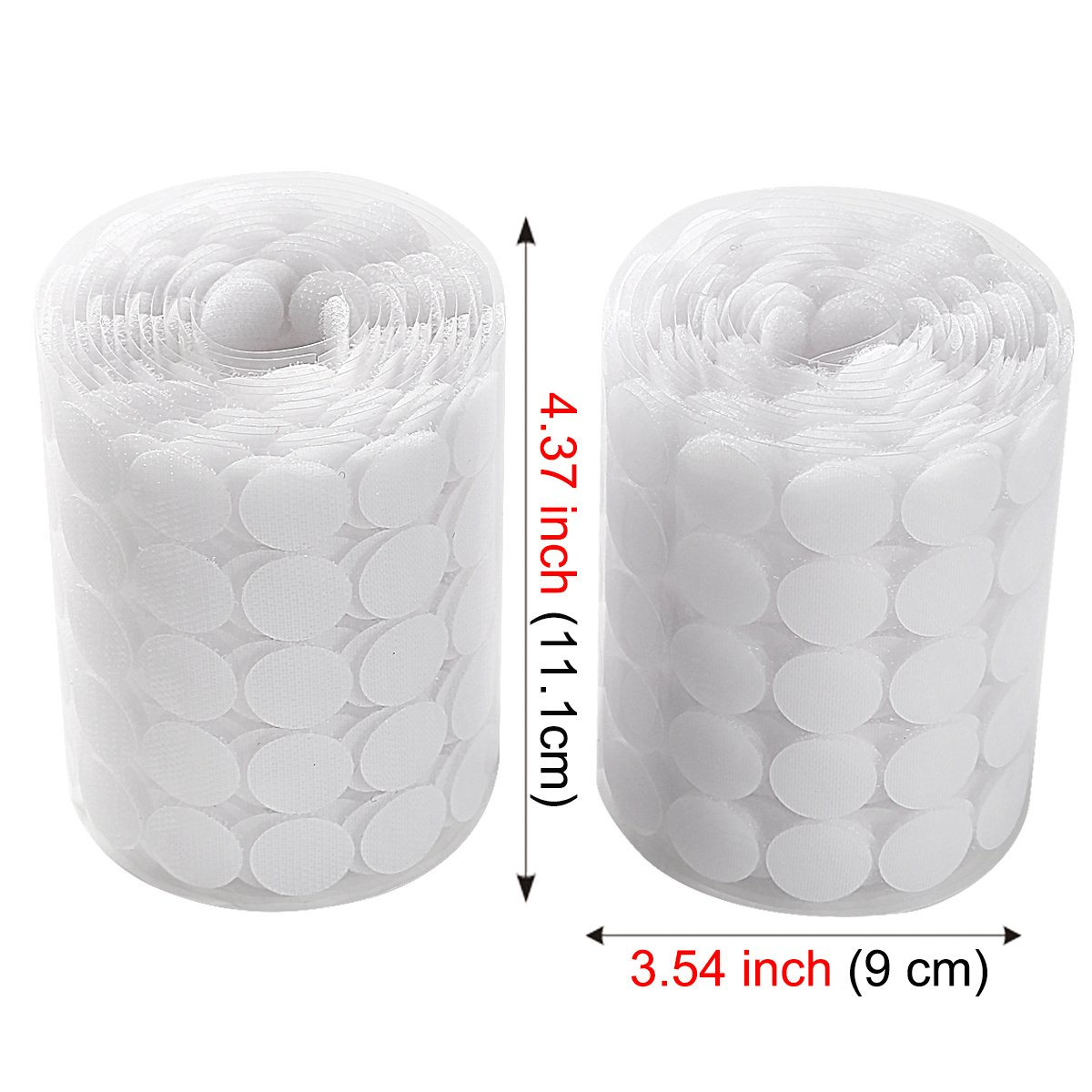 Sticky Back Coins Clear Dots Hook and Loop Self Adhesive Dot Tapes 3/4'' Diameter 1000pcs(500 Pair) - White by Alldio (Image #3)