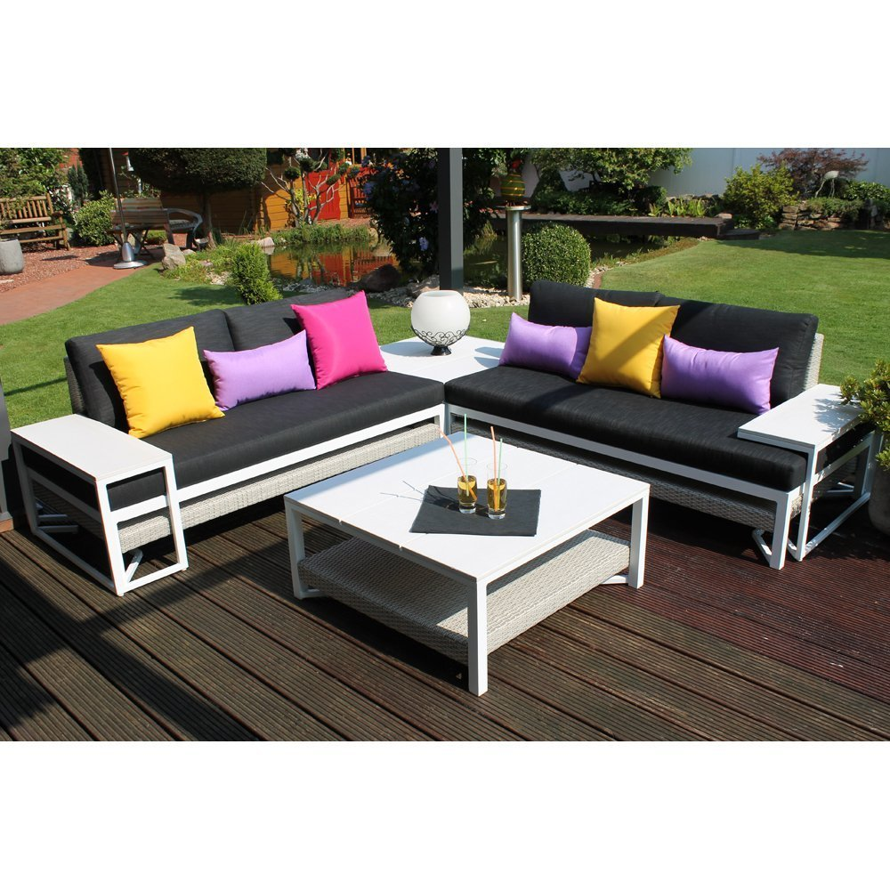 Loungemobel garten modern  Amazon.de: Leco 32500 999 Lounge-Gruppe Modern Style