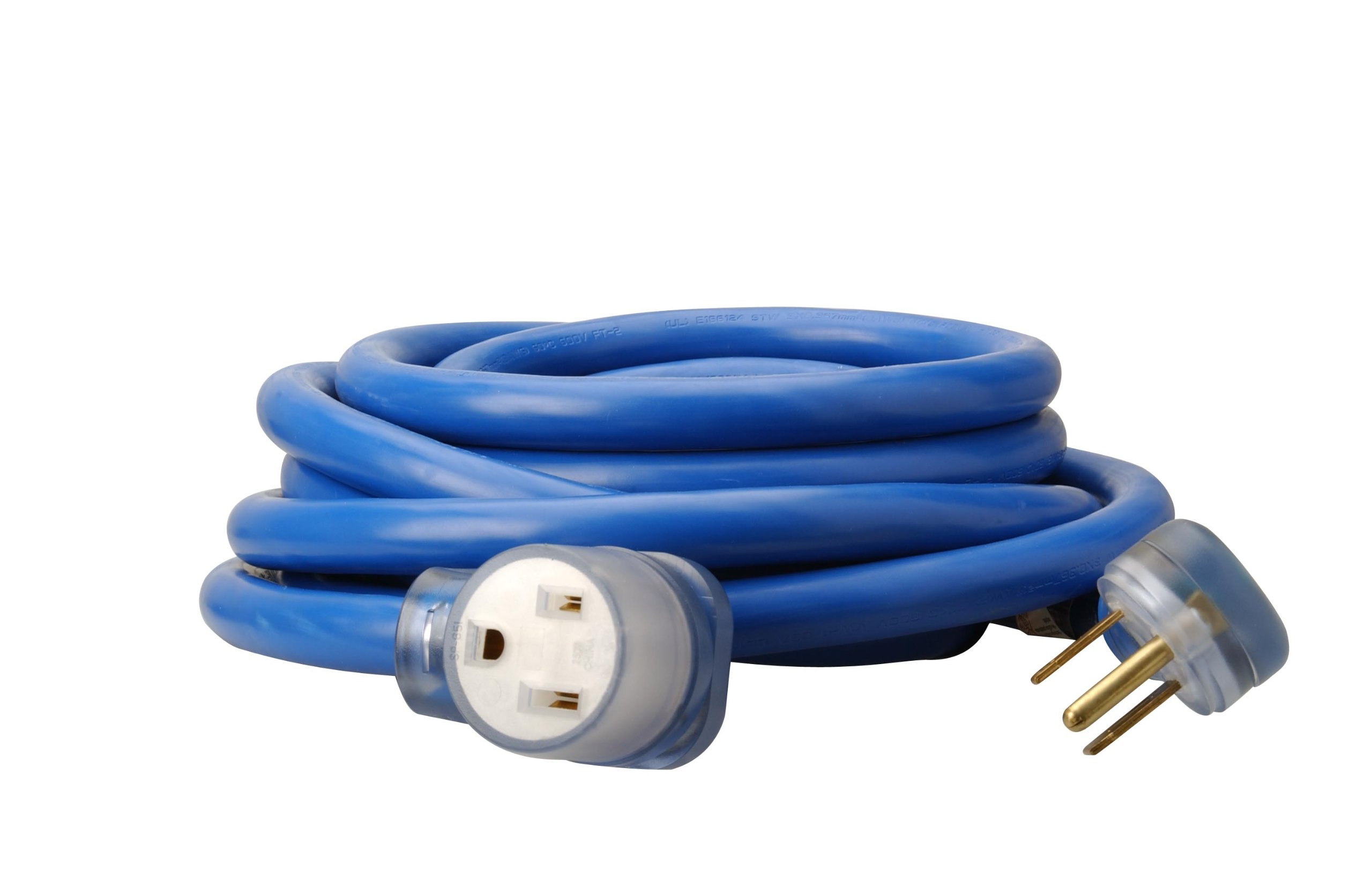 Coleman Cable 19178806 1917 8/3 STW 6-50 Welder Extension Cord With 3-Prong Plug In Blue (25-Foot, 8/3 Gauge)