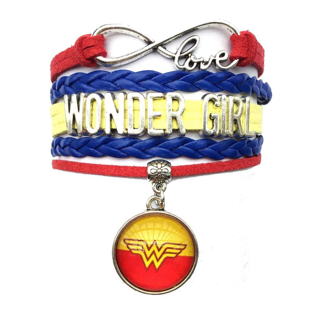 DOLON Wonder Woman Bracelet-Gift for Wife, Mom, Grandma BRC2869-Girl Charm
