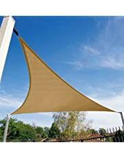 Shade&Beyond Triangle Sun Shade Sail for Patio Lawn Deck Garden Pergola