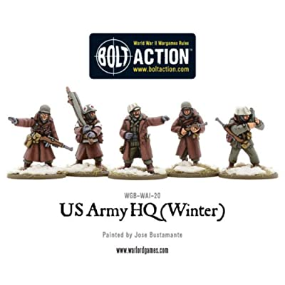 Warlord Games, US Army HQ (Winter), 28mm Bolt Action Wargaming figures: Toys & Games