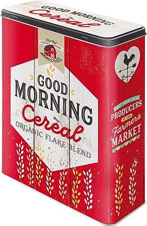 Nostalgic-Art 30328   Tarro XL   – Caja de almacenaje   Corn Flakes – Lata para Cereales, Metal, Multicolor, 19 x 8 x 26 cm: Amazon.es: Hogar