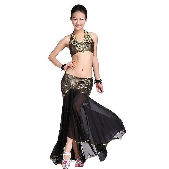 DanceWear danza del vientre traje sujetador de Custome Sling CION y hielo seda paquete cadera falda: Amazon.es: Ropa y accesorios