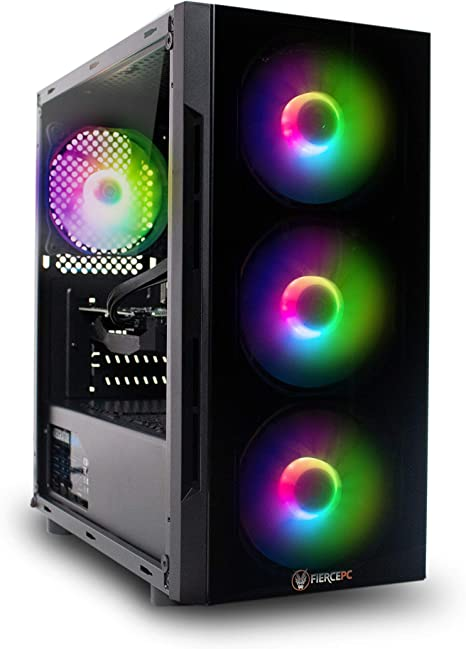 Fierce Crusader, RGB PC Gamer - Rápido 4.1GHz Hex-Core Intel Core i5 9400F, 1TB Disco Duro, 16GB de 3000MHz, NVIDIA GeForce GTX 1660 6GB, Windows 10 Instalado 1141294: Amazon.es: Informática