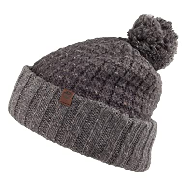 22b6038ee05a5 Timberland Hats Ombre Bobble Hat - Grey 1-Size  Amazon.co.uk  Clothing