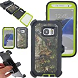 Galaxy S7 Case,Kecko Heavy Duty Protection Shock Reduction / Bumper Case Shockproof Dirtproof Defender Camo Cover Case w/ Built-in Screen Protector For Samsung galaxy S7 Cover Case (Forest Green)