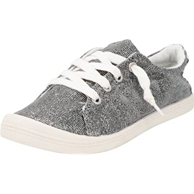 Cambridge Select Women's Round Toe Low Top Slip-On No Tie Stretch Elastic Lace Fashion Sneaker | Shoes