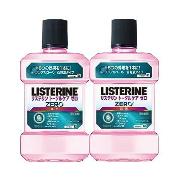 【まとめ買い】薬用 リステリン トータルケアゼロ マウスウォッシュ 1000ml×2個 低刺激タイプ